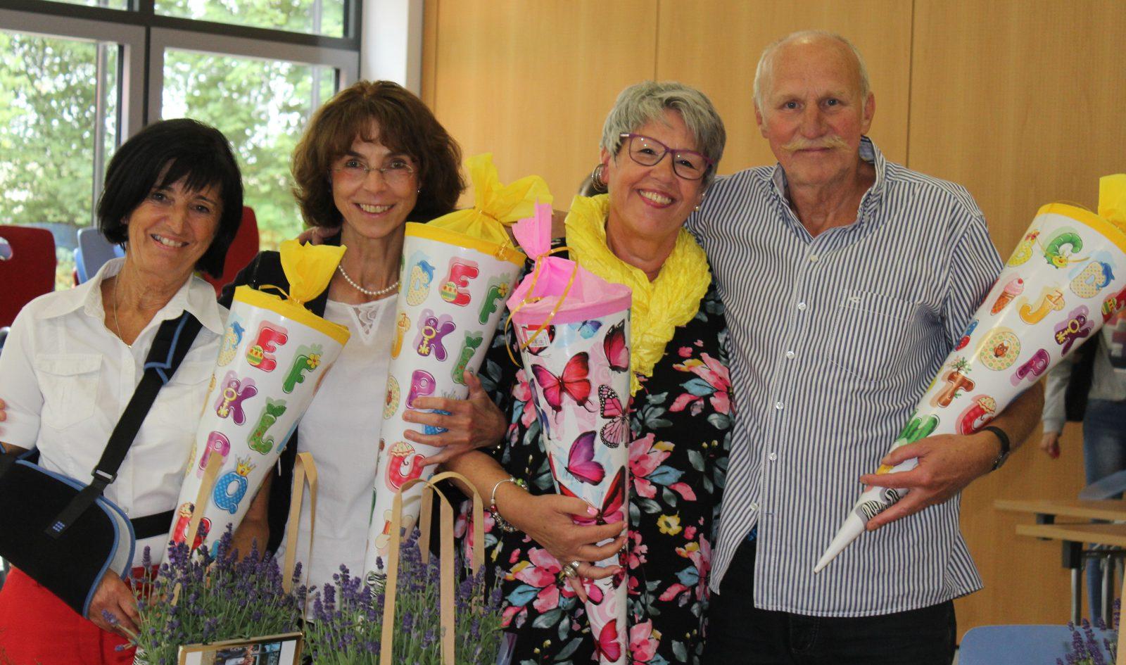 Wir verabschieden Frau Fiedler, Frau Kämmerling, Frau Münscher und Herrn Antrecht!