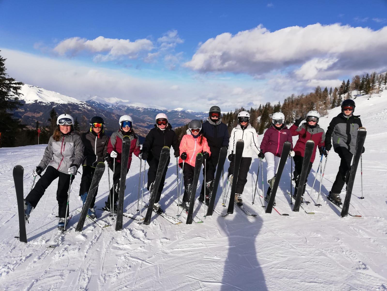 Skifreizeit 2020: Sonne satt, Schnee, Super-Schüler…