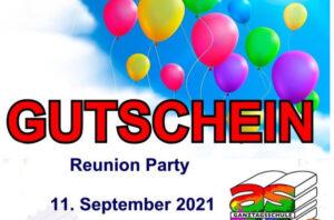 Reunion Party für die ehemaligen SchülerInnen AK 2020 auf den 11. September 2021 verschoben!