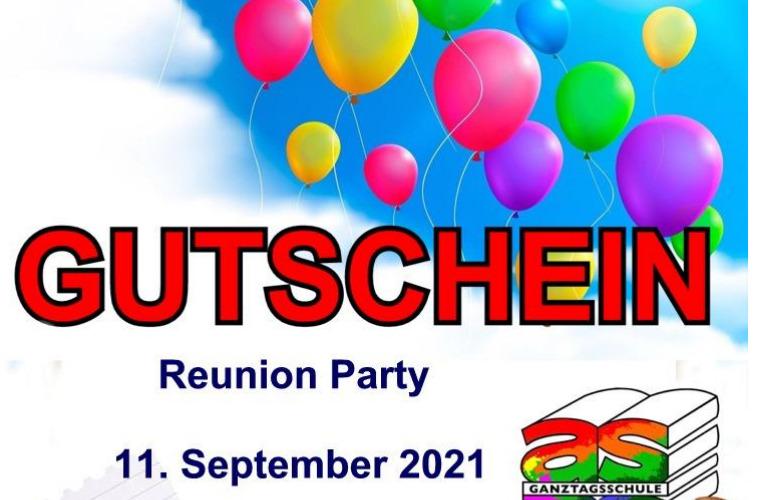 Reunion Party AK 2020:  Samstag, den 11.09.2021! Ein herzliches Dankeschön an alle beteiligten Organisatoren und Organisatorinnen!